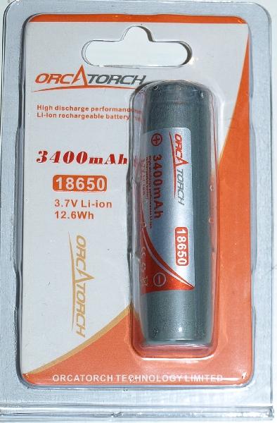 Li-ion battery 18650 3400mAh