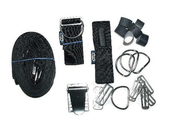Adjustable harness for backplate complete