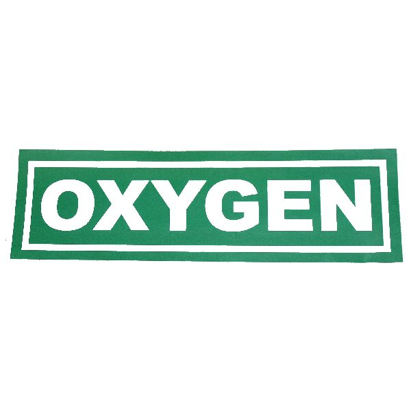 Oxygen sticker, big