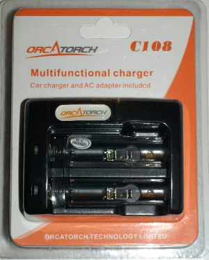 Charger for two 18650 -cells