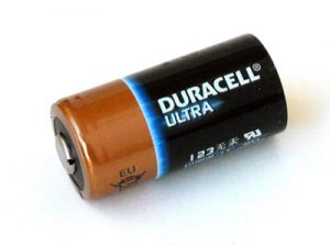 CR123A lithium battery Duracell Ultra