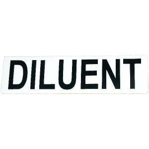 Diluent sticker, small