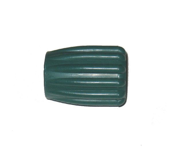Rubber knob, green