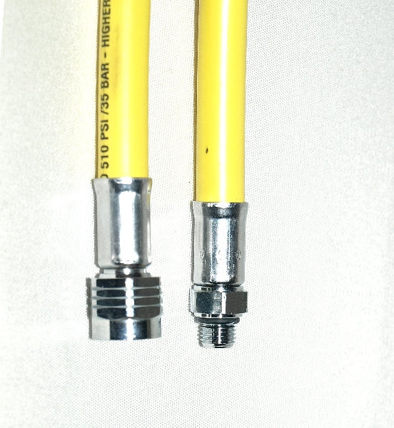Regulator hose 100 cm yellow